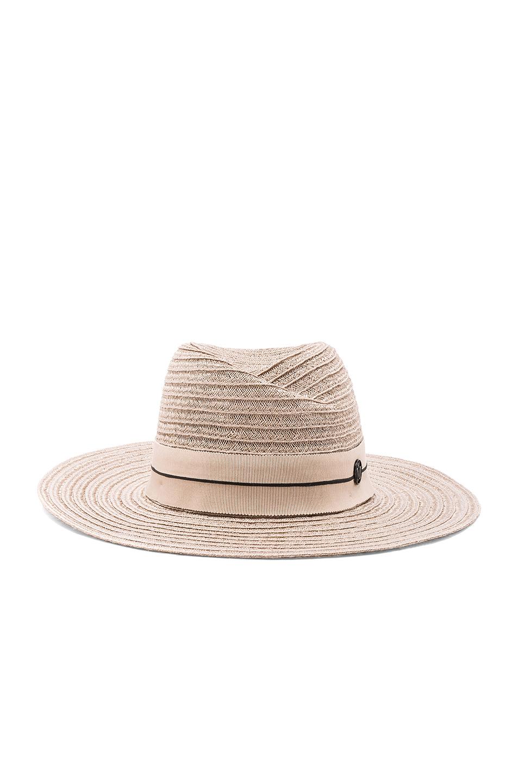 Maison Michel Virginie Straw Hat in Neutrals