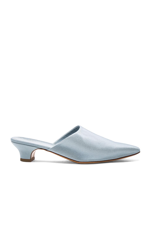 Mansur Gavriel Grosgrain Elegant Slides in Blue