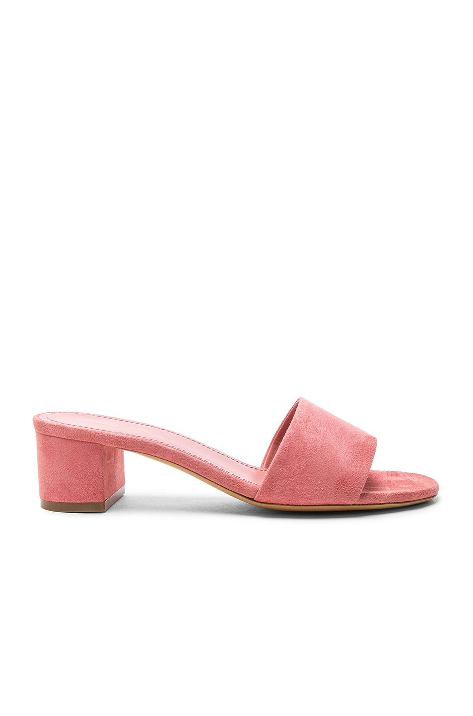 Mansur Gavriel Suede Single Strap Heels in Pink