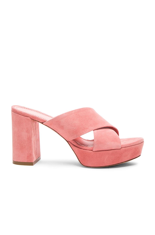 Mansur Gavriel 90MM X Strap Heel in Pink