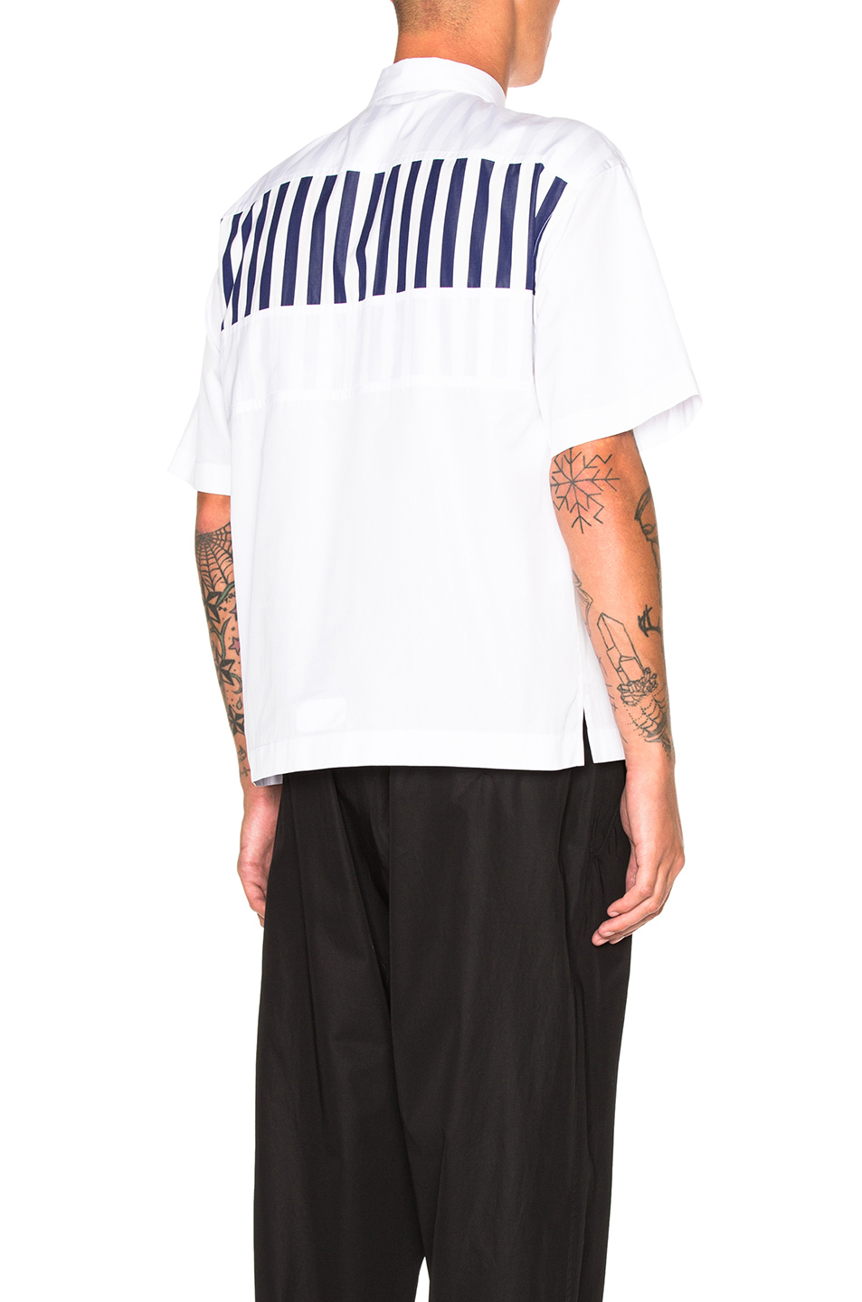 Marni Dry Twisted Cotton Shirt in White,Stripes