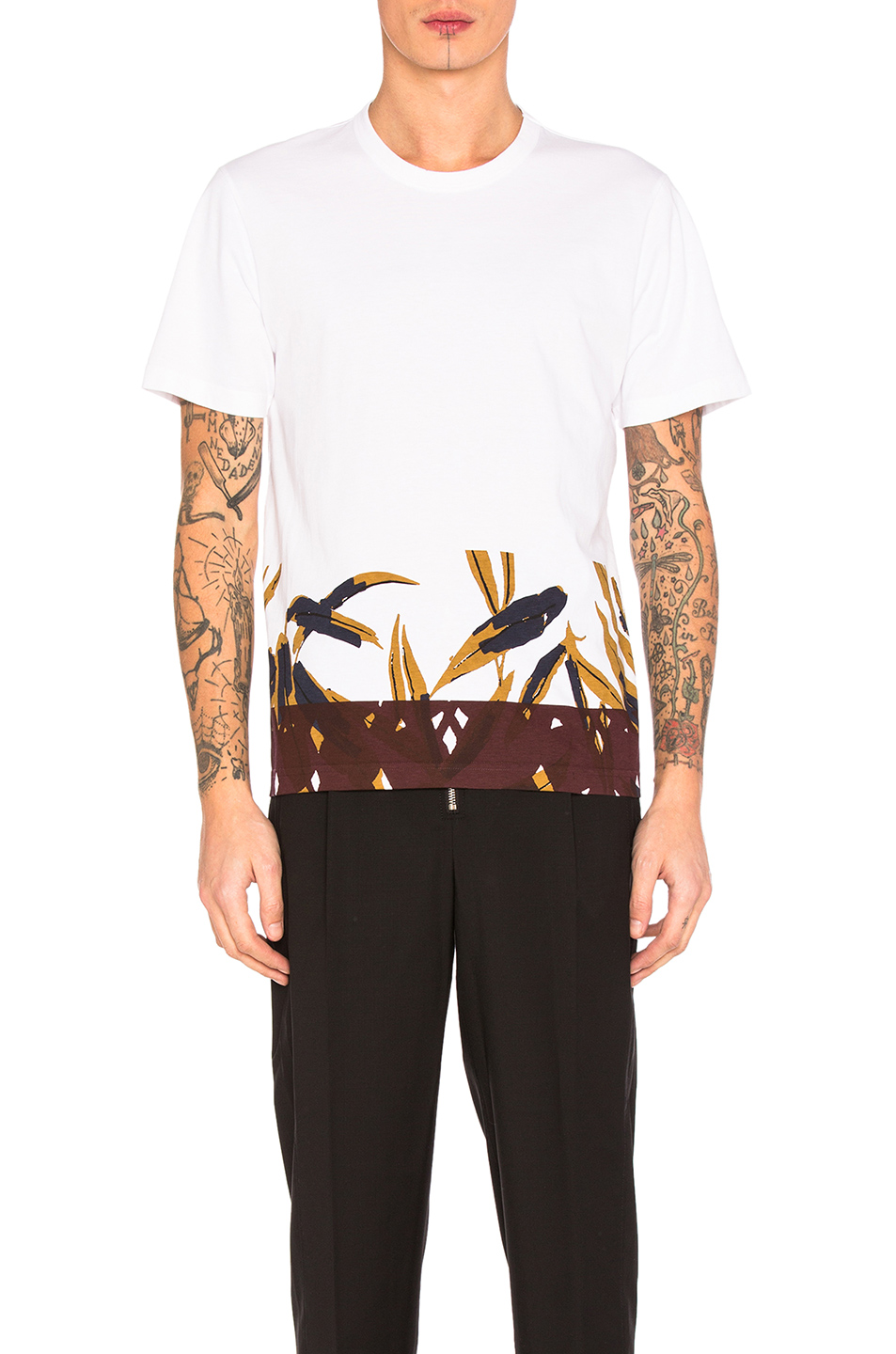 Marni Printed Tee in White