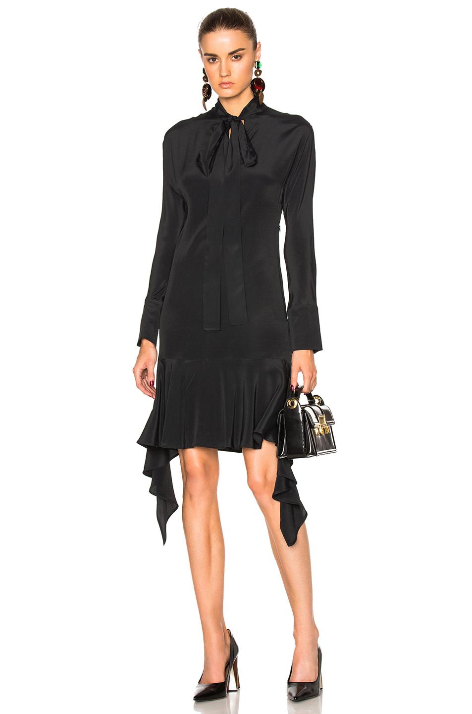 Marni Asymmetrical Dress in Black