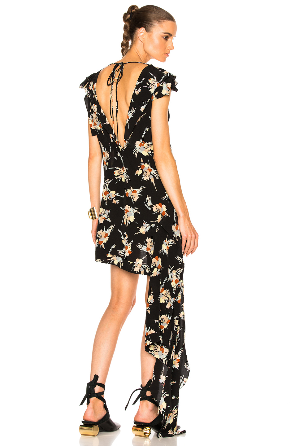 Marni Sleeveless Printed Tunic in Black,Floral