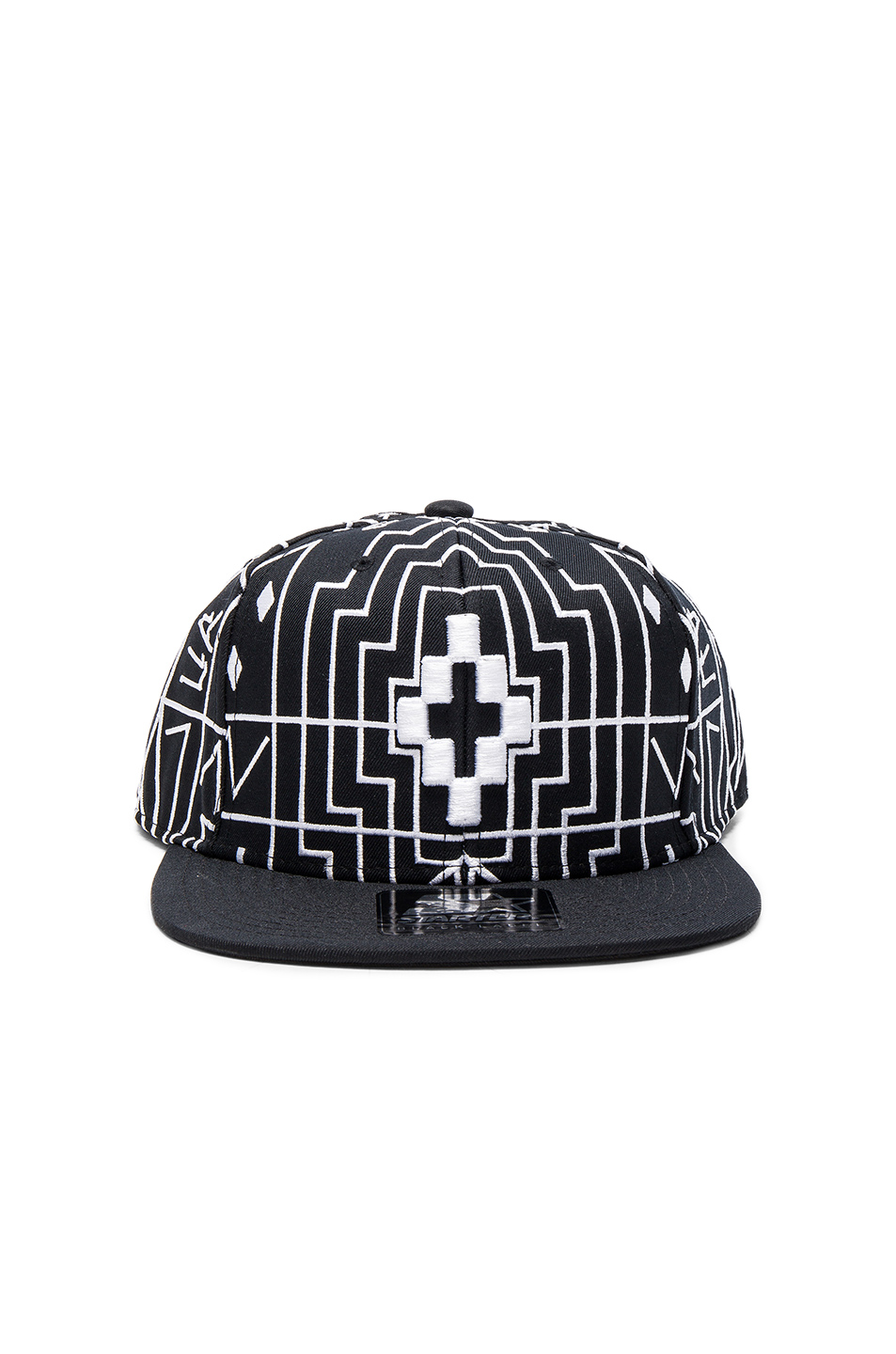 Marcelo Burlon Starter Salomon Cap in Black,Abstract