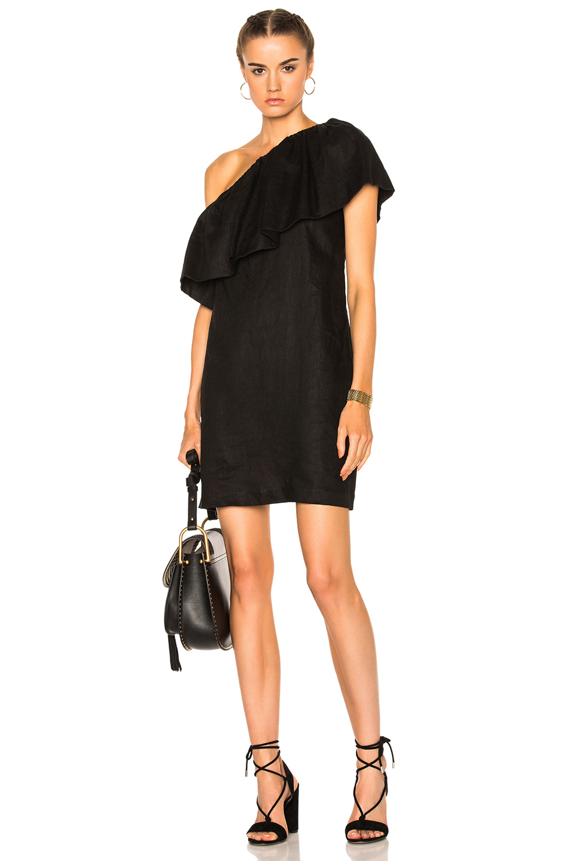 Mara Hoffman One Shoulder Mini Dress in Black