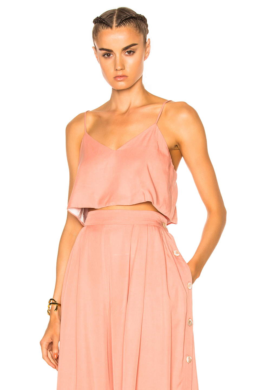 Mara Hoffman Crop Cami Top in Neutrals,Pink
