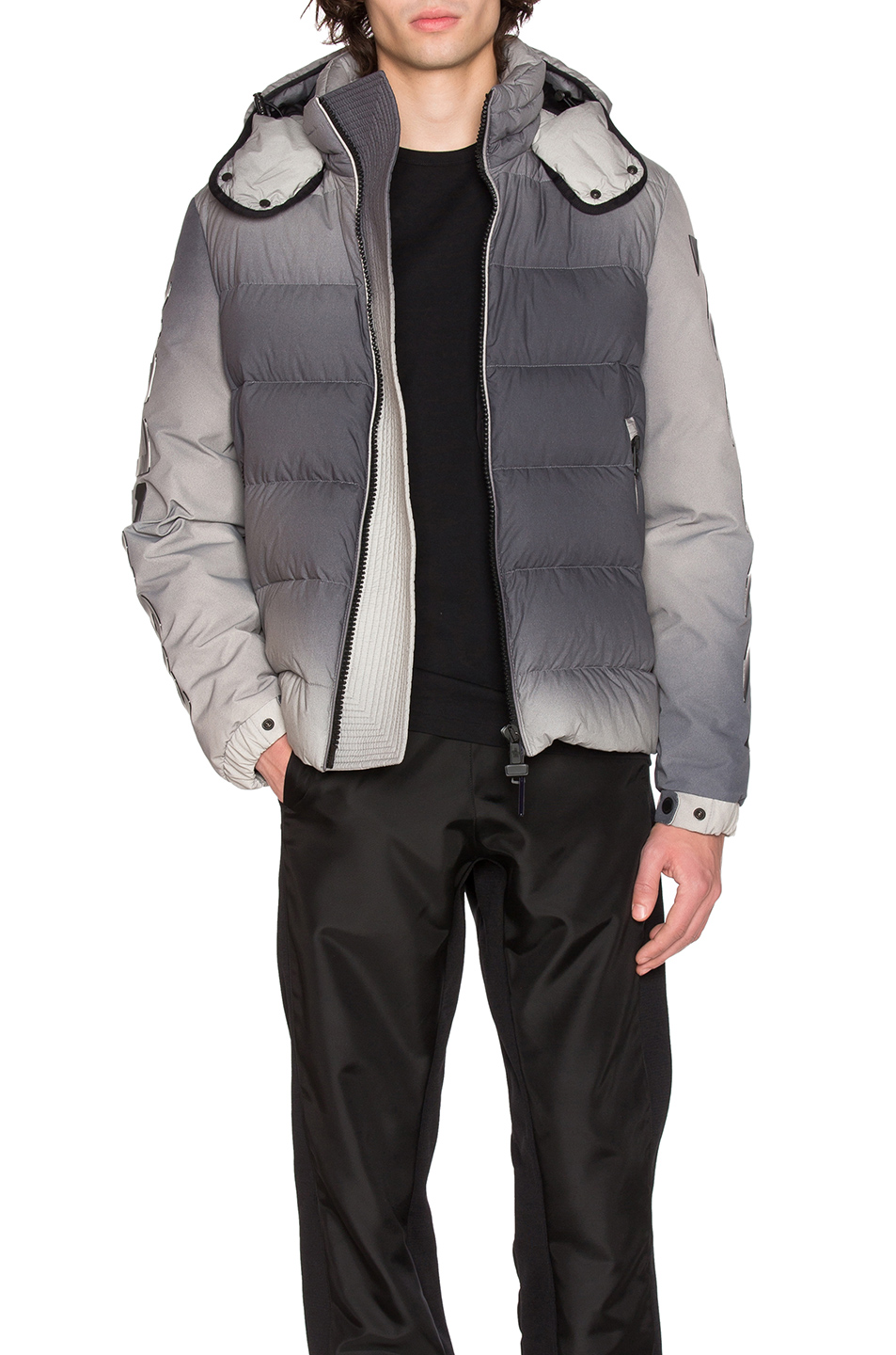 Moncler x Off White Enclos Jacket in Gray,Ombre & Tie Dye