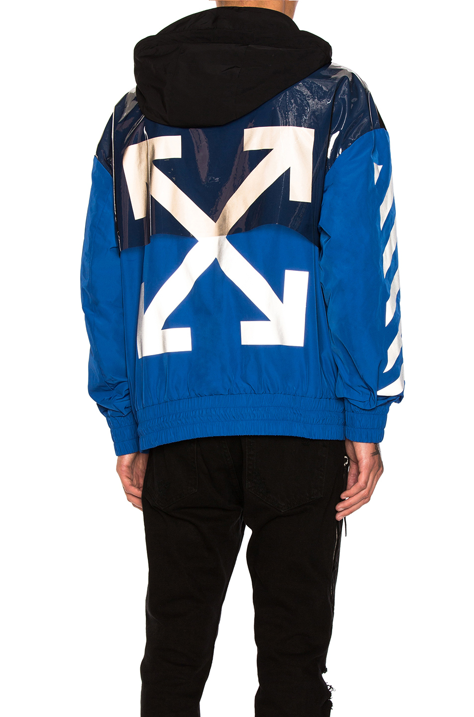 Moncler x Off White Jacket in Black,Blue
