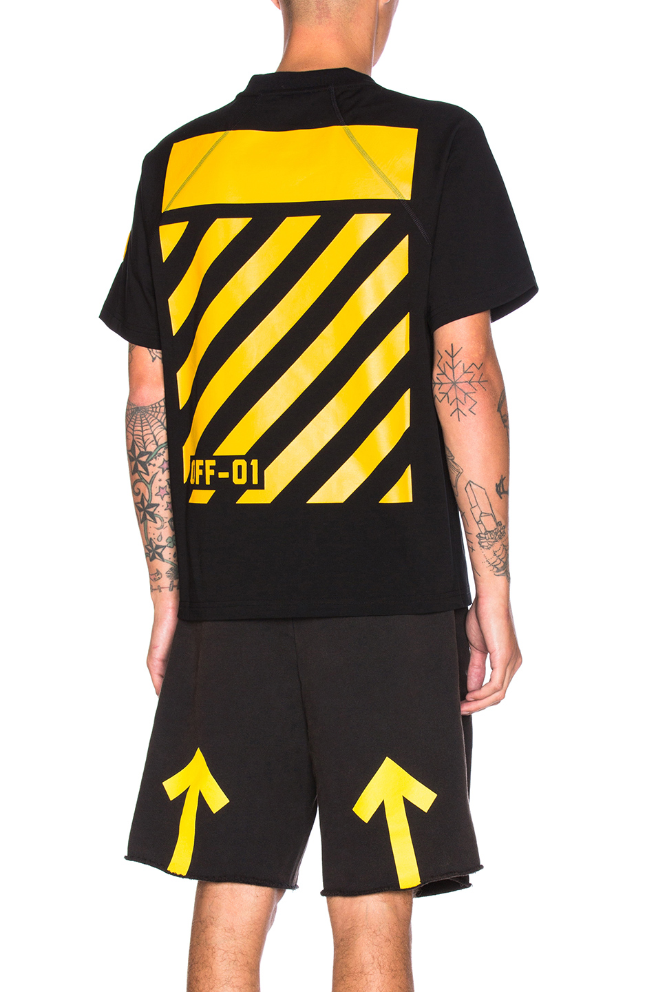 Photo of Moncler x Off White Maglia Tee in Black - shop Moncler x Off White menswear