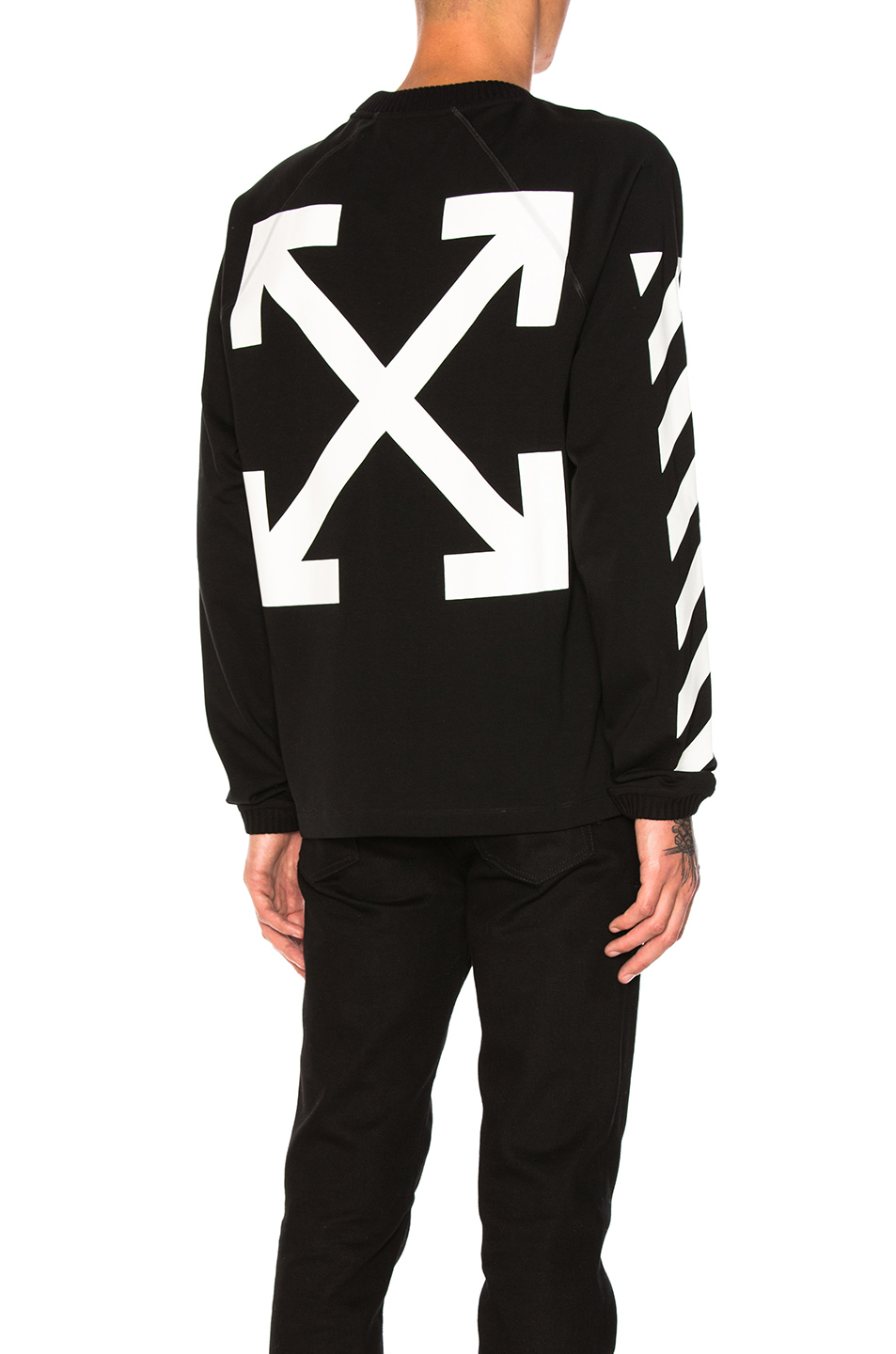 Moncler x Off White Long Sleeve Shirt in Black,White