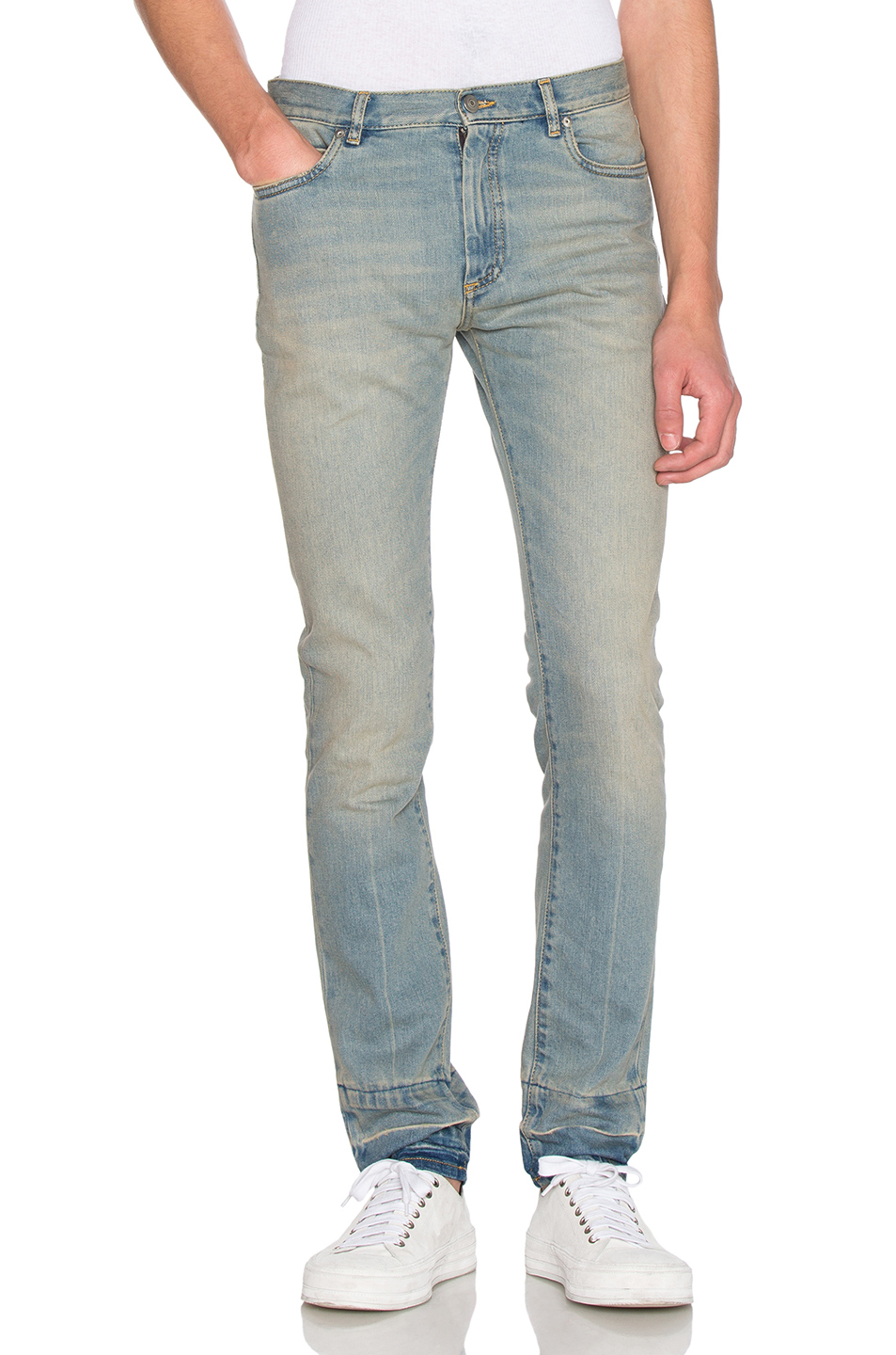 Maison Margiela Stonewashed Skinny Fit Jeans in Blue