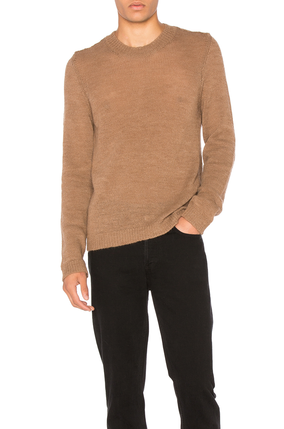 Maison Margiela Jersey Pullover Sweater in Brown
