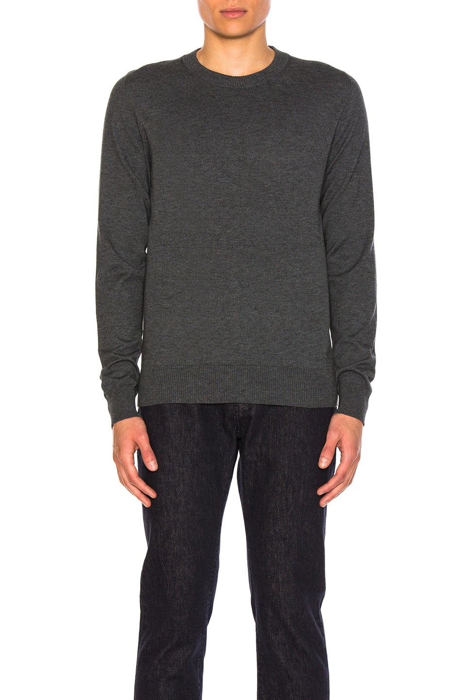 Maison Margiela Elbow Patch Pullover Sweater in Blue,Gray