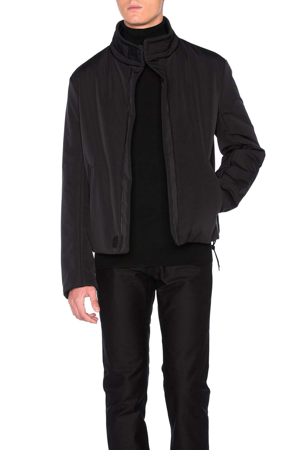 Photo of Maison Margiela Matte Polyester 3 Layer Jacket in Black - shop Maison Margiela menswear