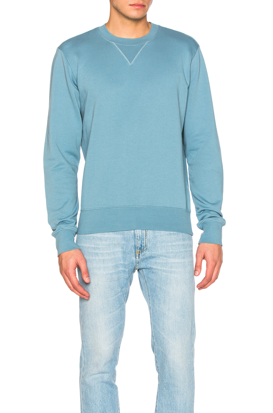 Maison Margiela Cotton Sweatshirt in Blue