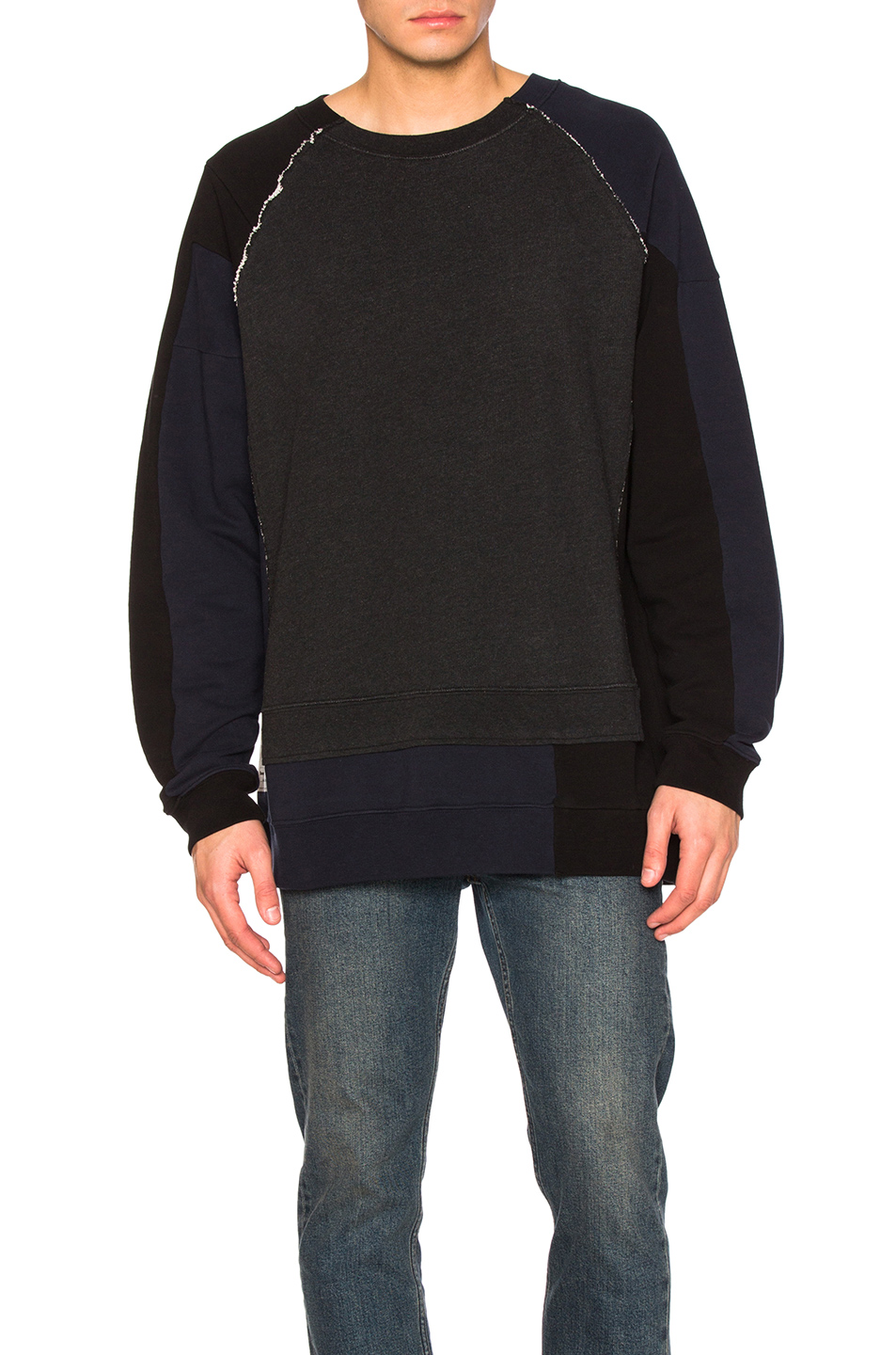Maison Margiela Patchwork Sweatshirt in Gray