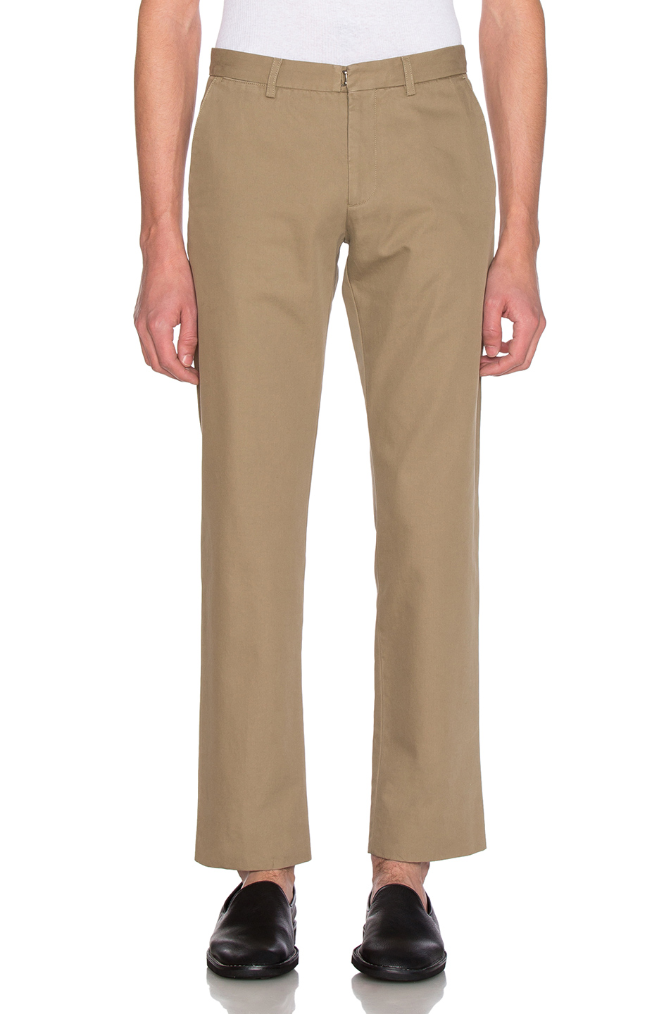 Maison Margiela Cotton Gabardine Slim Chino in Neutrals