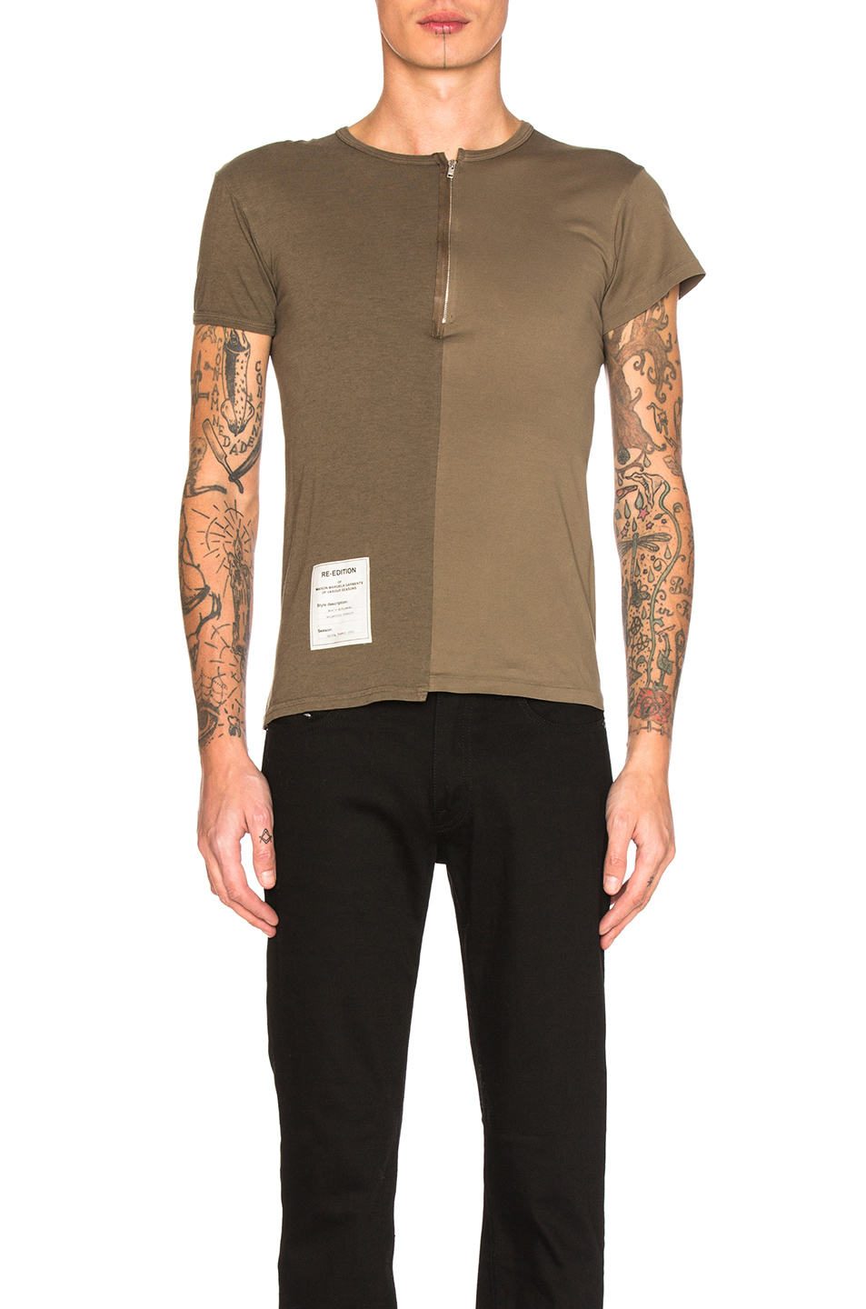 Maison Margiela Overdyed Tee in Brown
