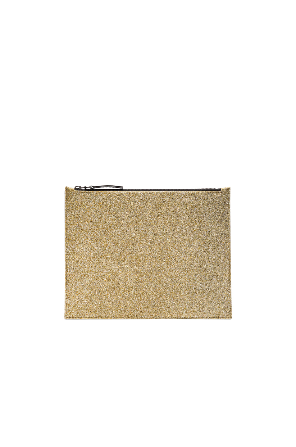 Maison Margiela Glitter & Calf Leather Pouch in Metallics