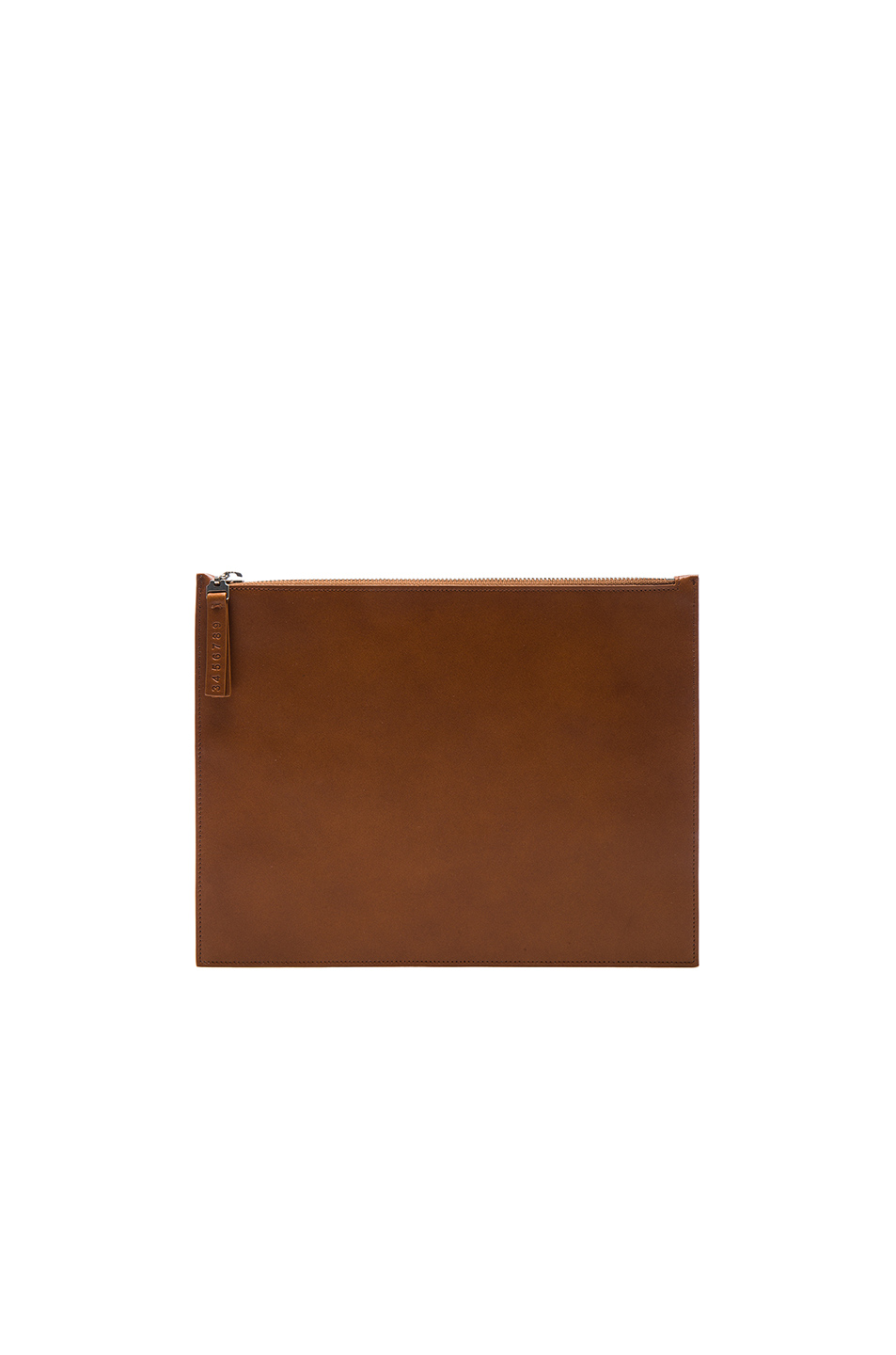 Maison Margiela Calf Leather Pouch in Neutrals,Brown