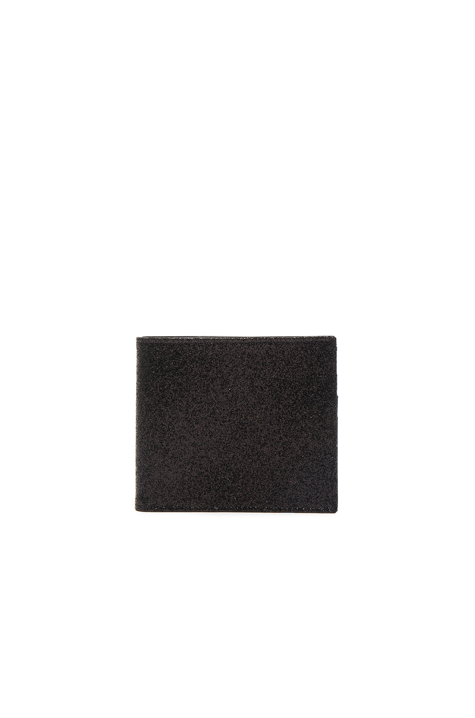 Maison Margiela Glitter & Calf Leather Billfold Wallet in Black,Metallics