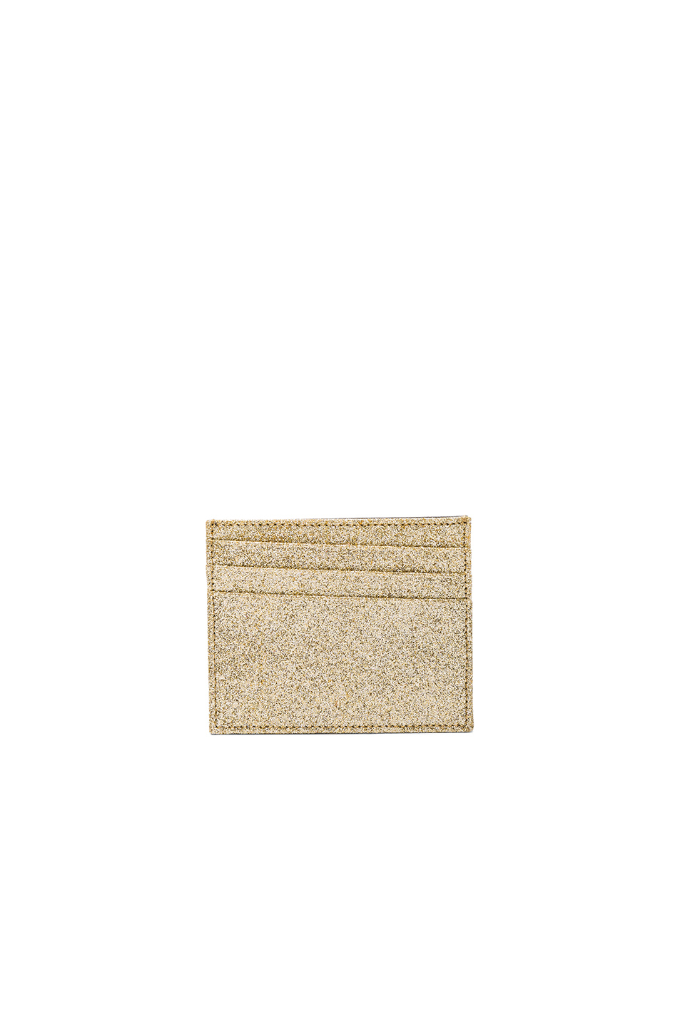 Maison Margiela Glitter & Calf Leather Cardholder in Metallics