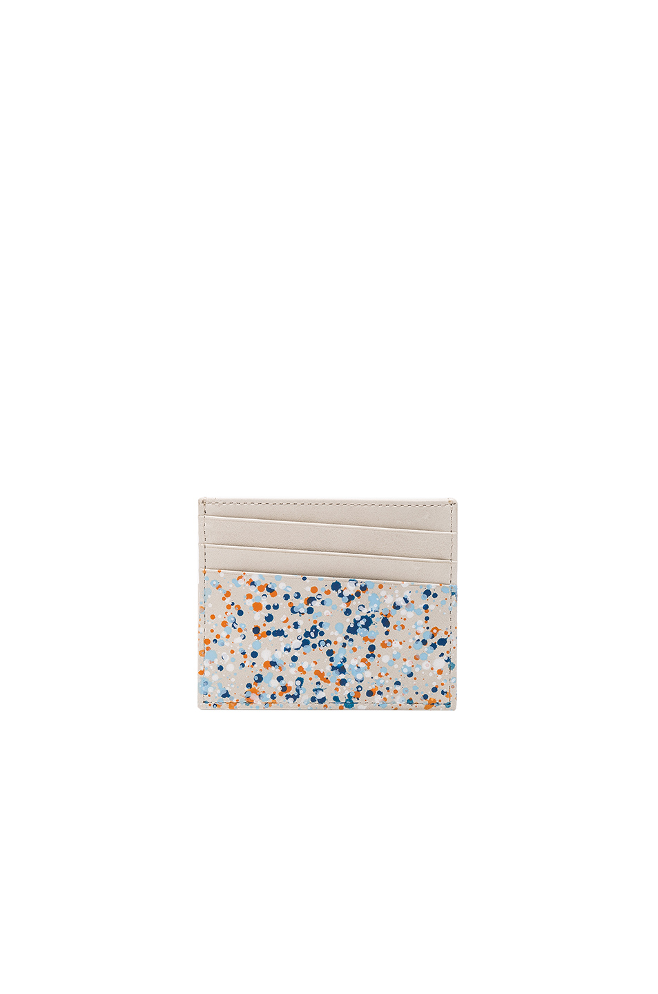 Maison Margiela Pollock Effect Cardholder in White,Abstract