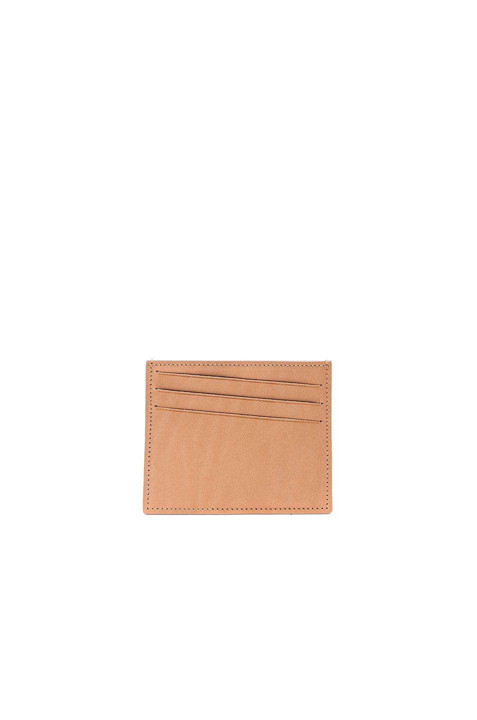 Maison Margiela Leather Cardholder in Neutrals