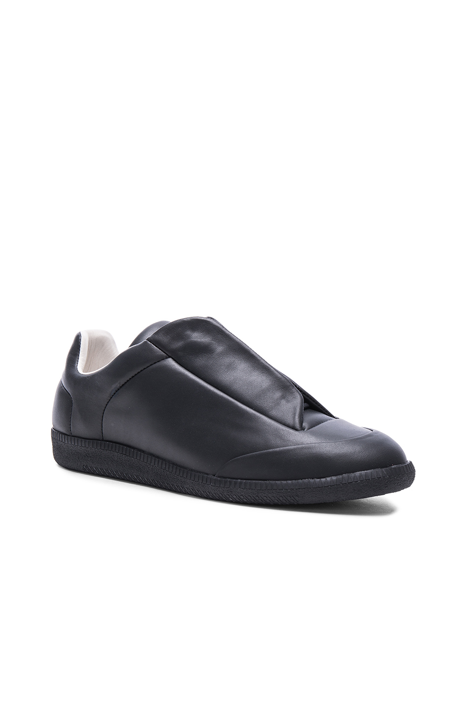 Maison Margiela Calfskin Future Low Top Sneakers in Black