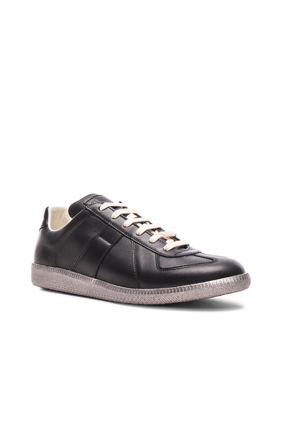Maison Margiela Leather Replica Sneakers in Black