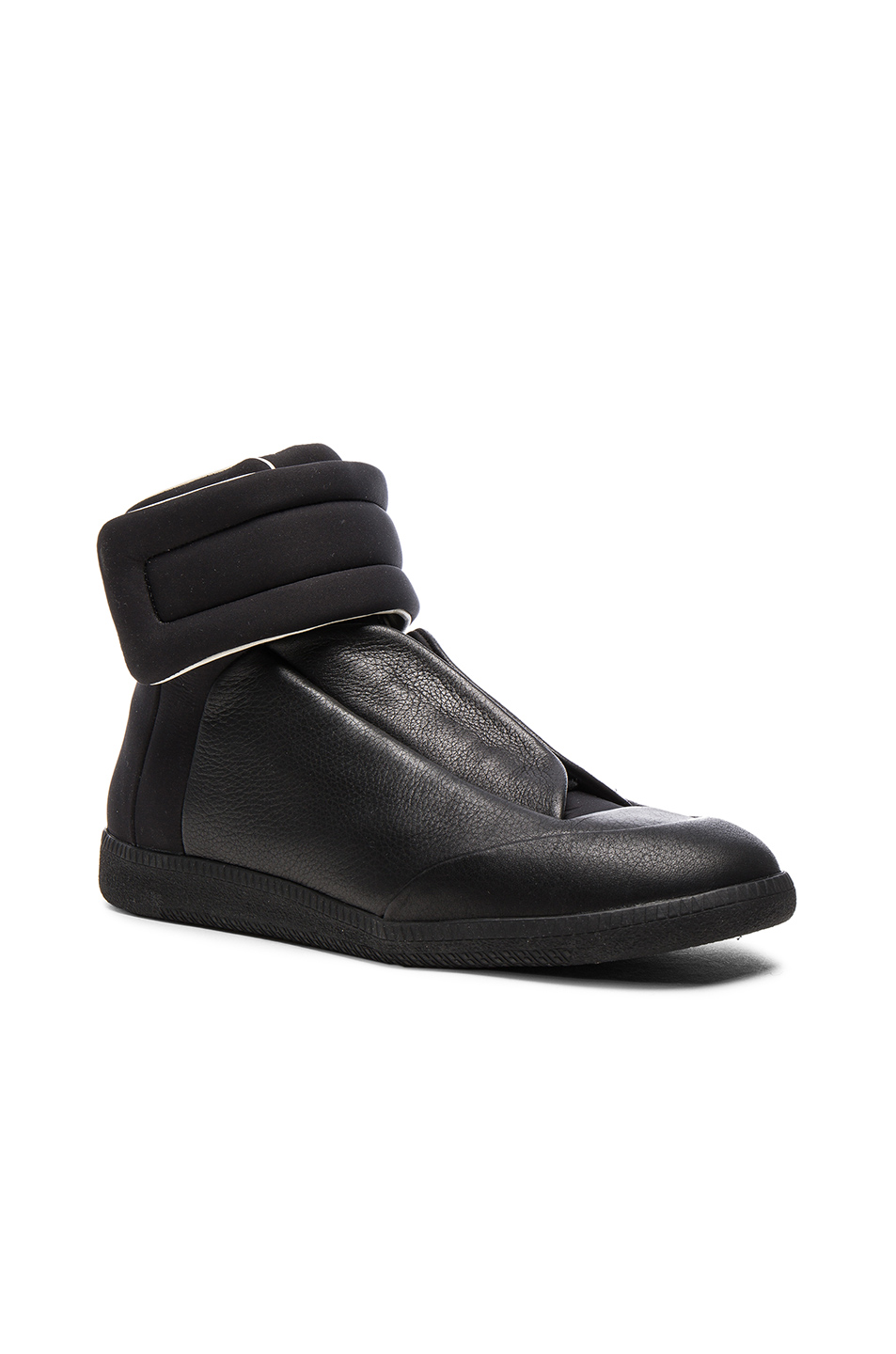 Maison Margiela Future High Top Sneakers in Black