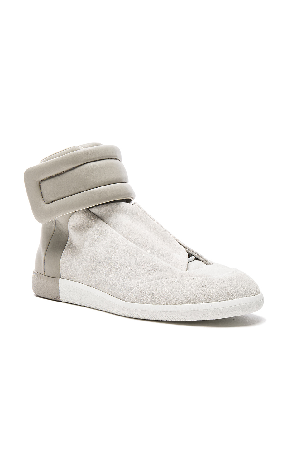Maison Margiela Calfskin & Suede Future High Tops in Gray