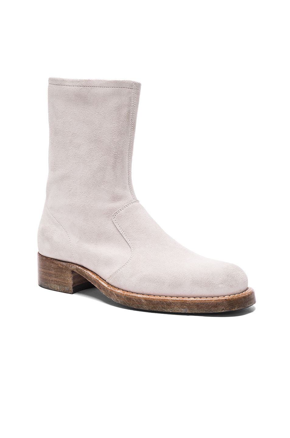 Maison Margiela Vintage Treatment Suede Boots in White