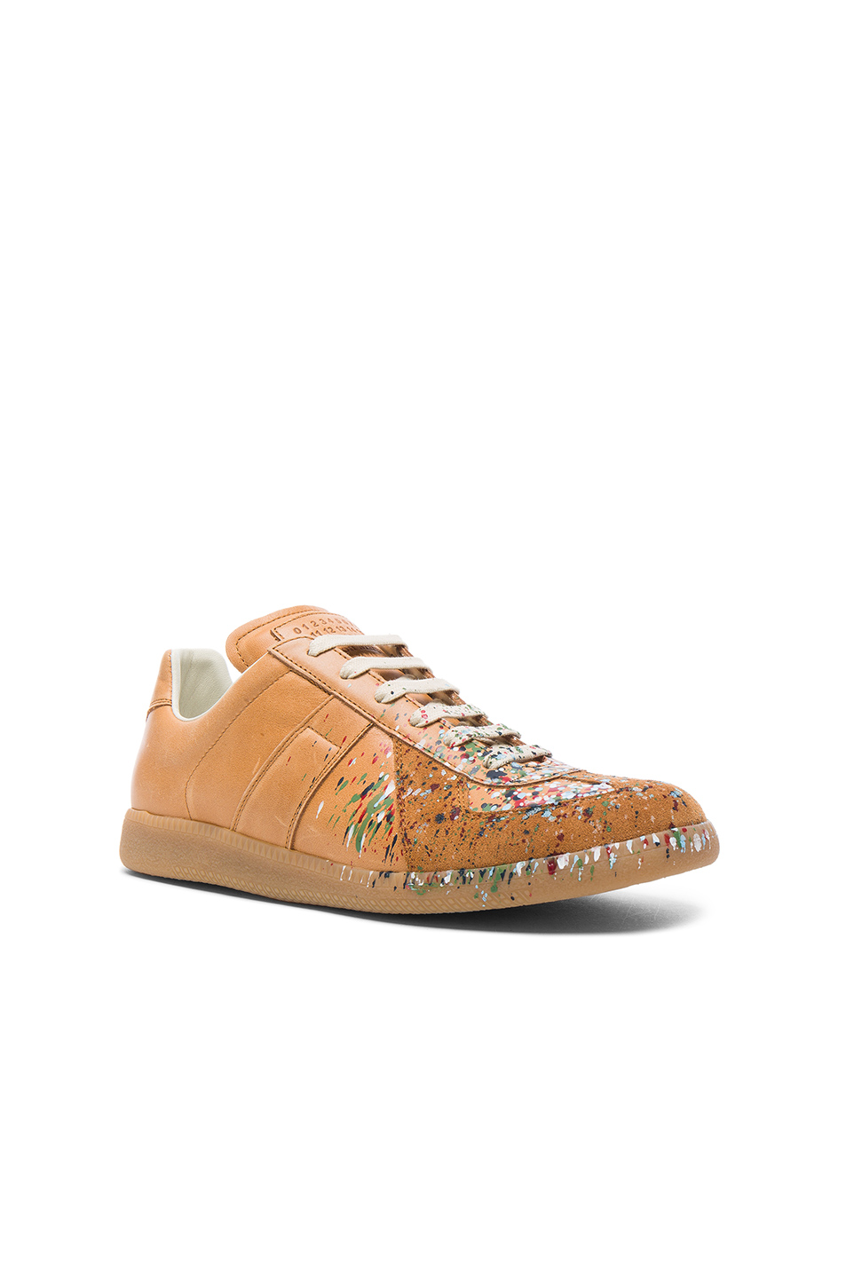 Maison Margiela Leather Replica Sneakers in Neutrals