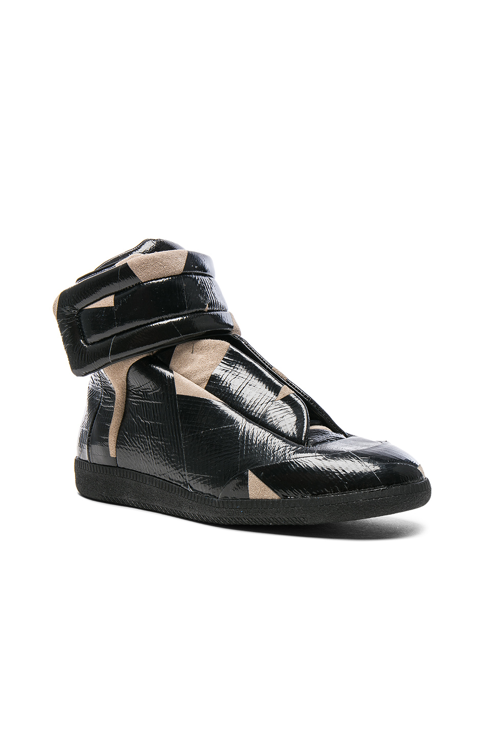 Maison Margiela Future High Top Sneakers in Black,Abstract