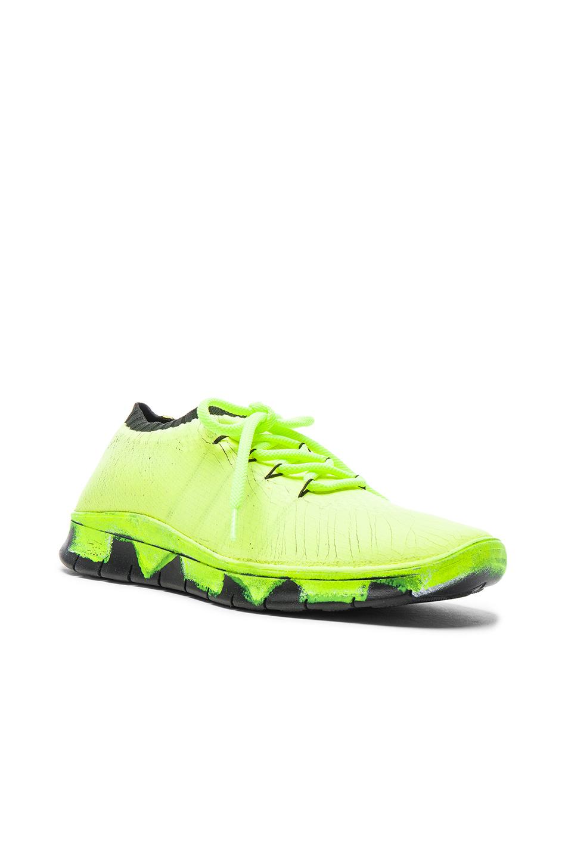 Maison Margiela Knit Sneakers in Neon,Yellow