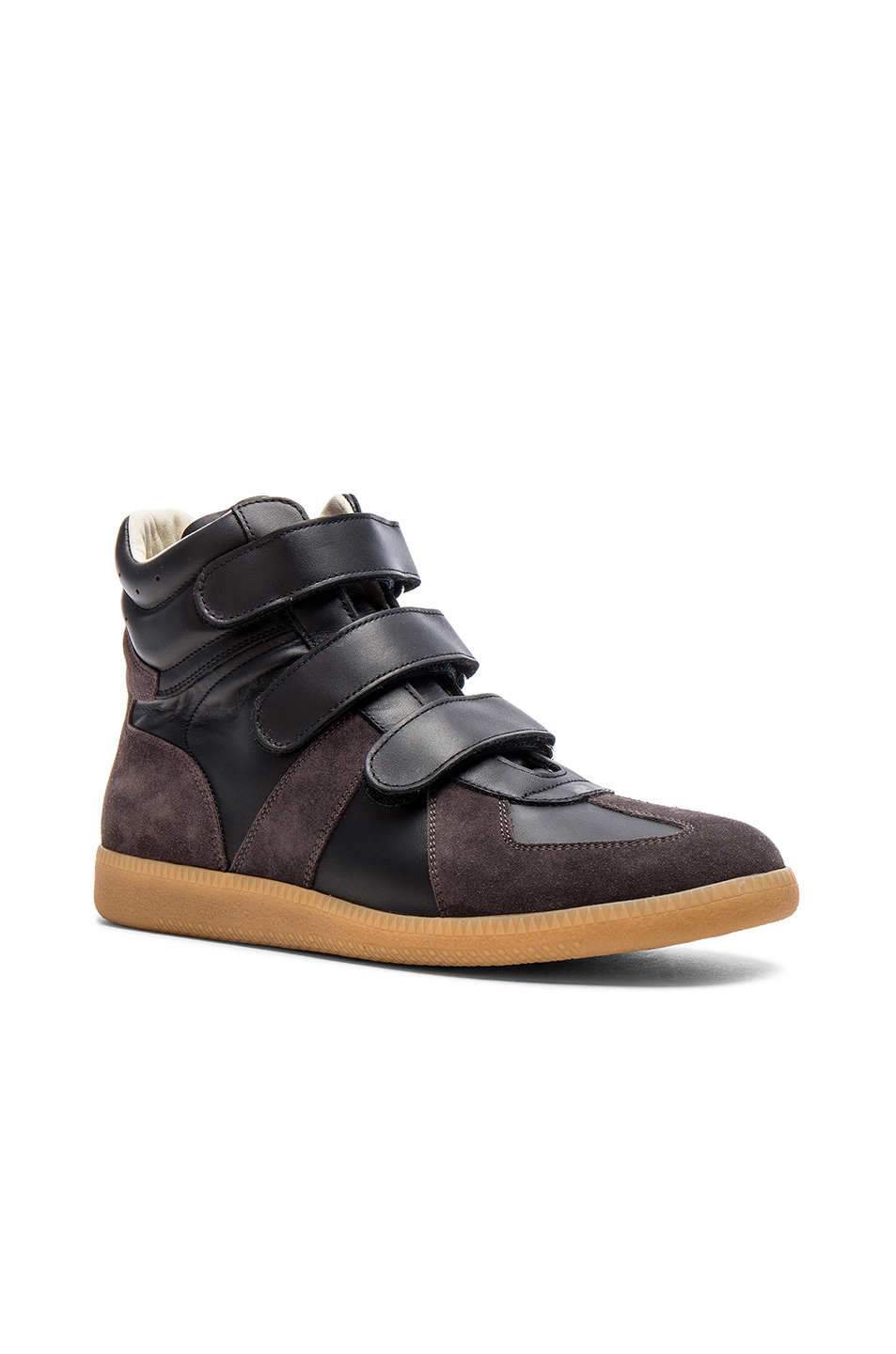 Maison Margiela Calfskin Velcro High Tops in Black