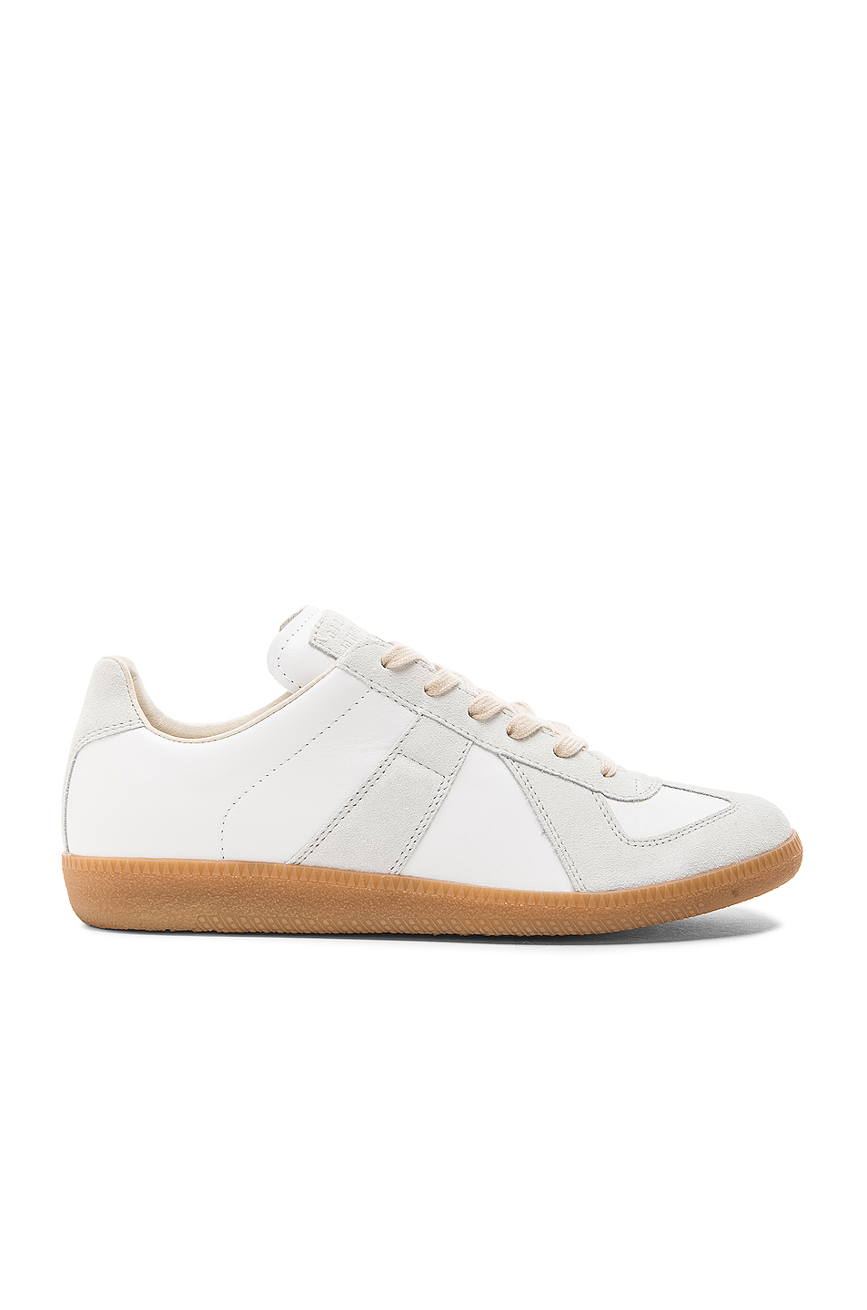 Maison Margiela Replica Calf & Lambskin Leather Sneakers in White