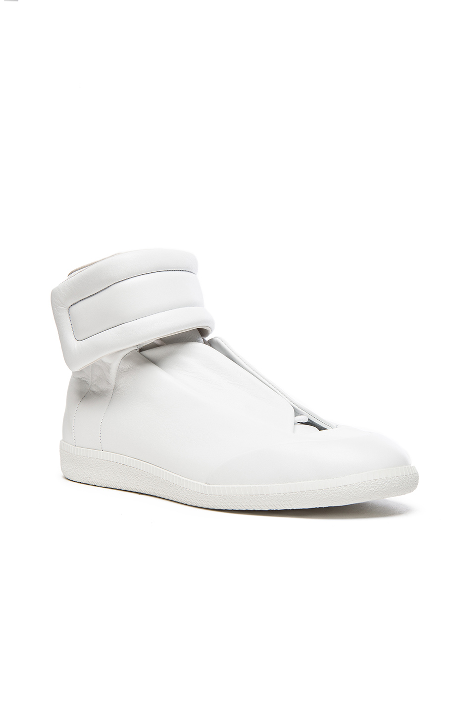 Maison Margiela Future Leather High Tops in White