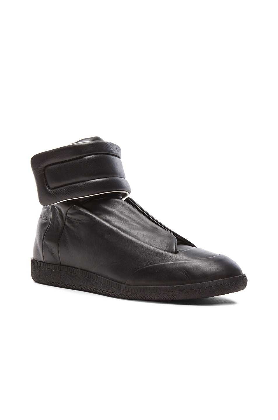 Maison Margiela Future Leather High Tops in Black