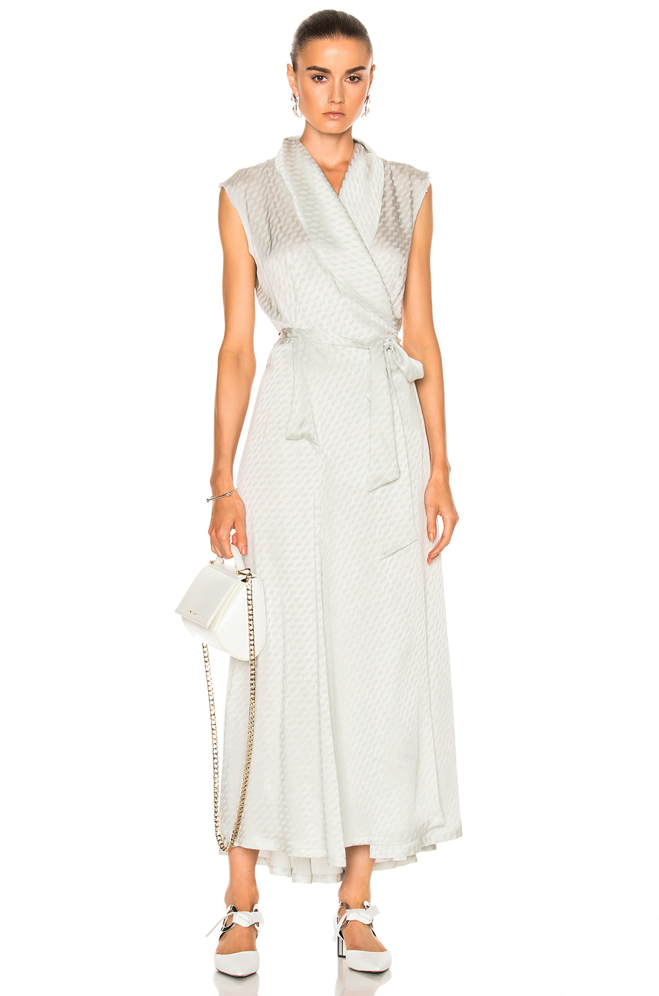 Photo of Maison Margiela Wrap Dress in Abstract,Gray,Metallics online sales