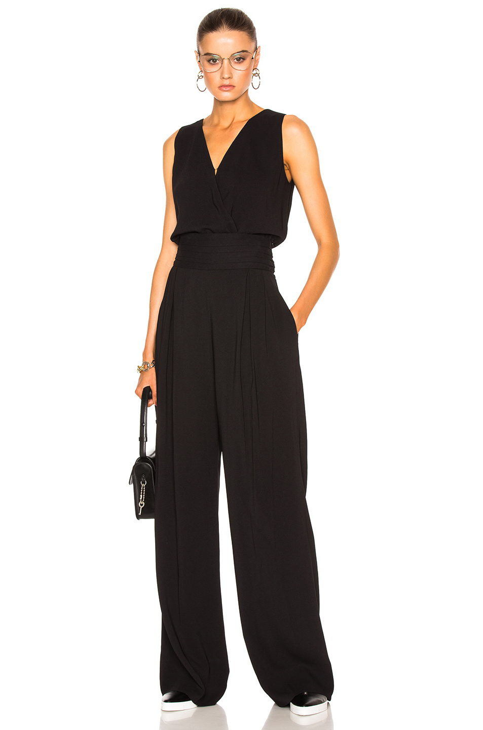 Photo of Maison Margiela Crepe Sable Jumpsuit in Black online sales