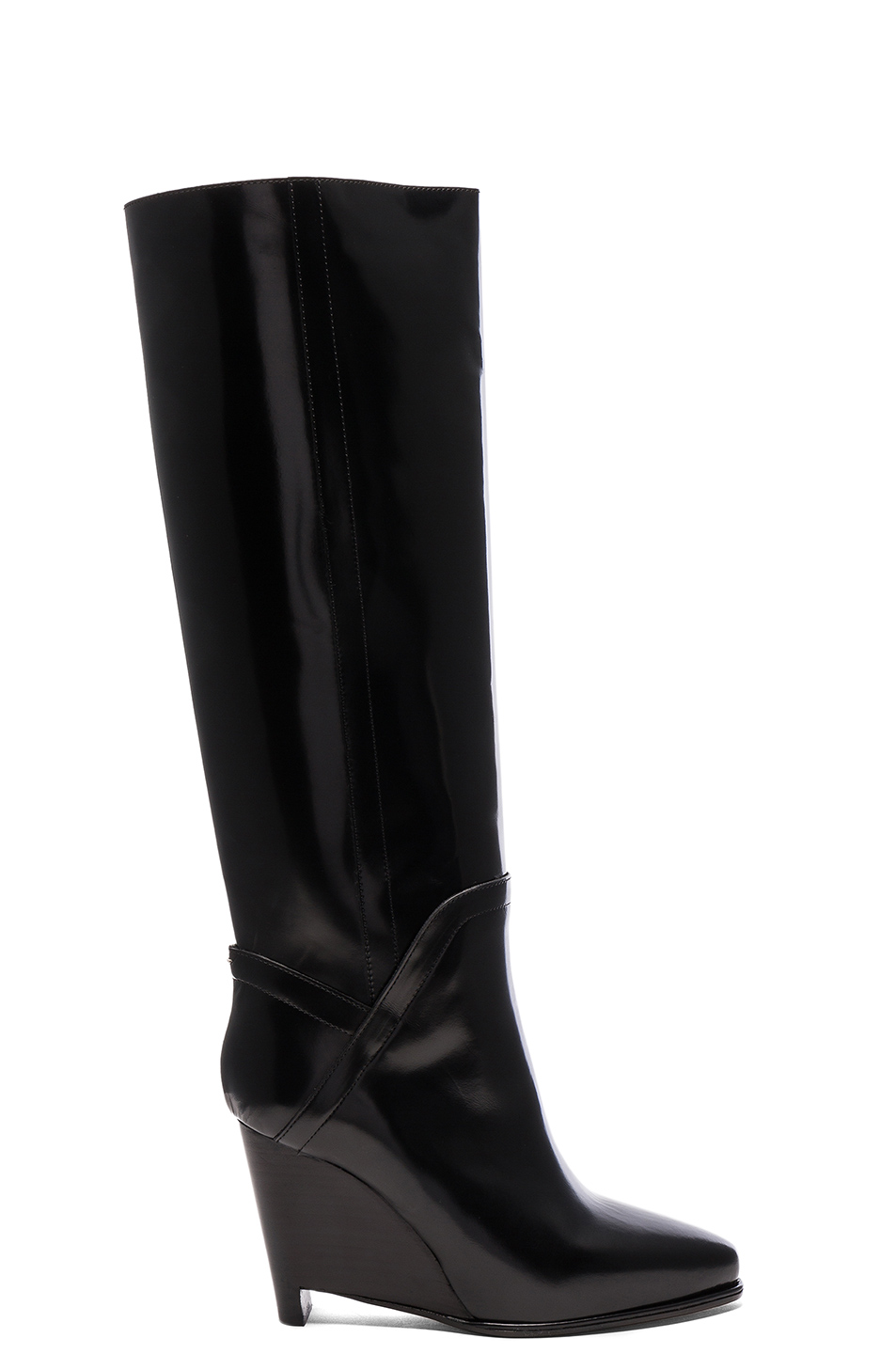 Maison Margiela Leather Boots in Black