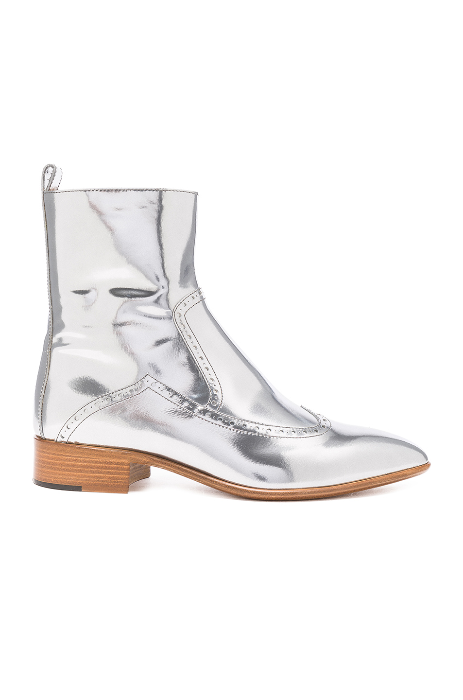Maison Margiela Leather Ankle Boots in Metallics