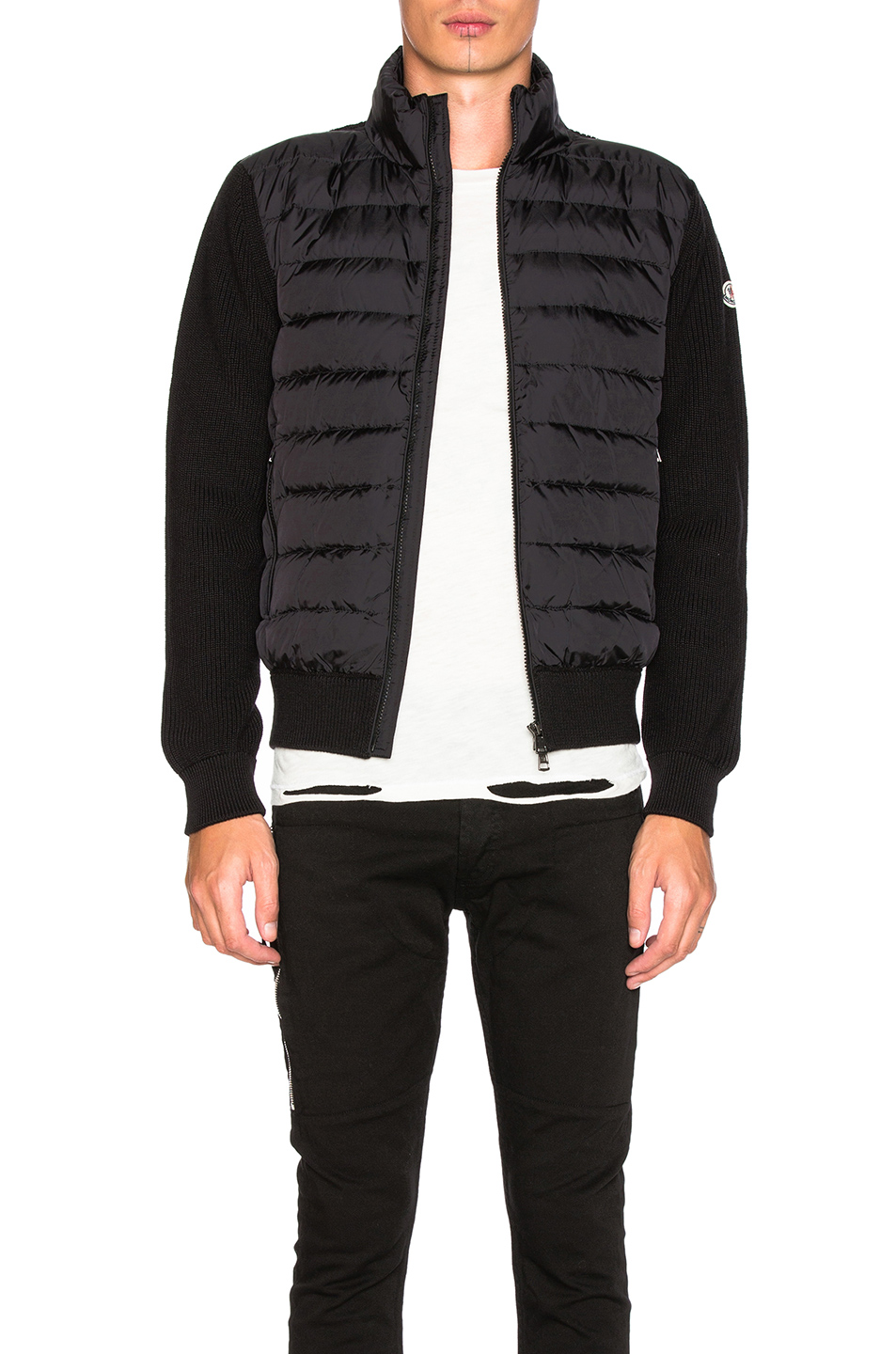Moncler Maglione Tricot Cardigan in Black