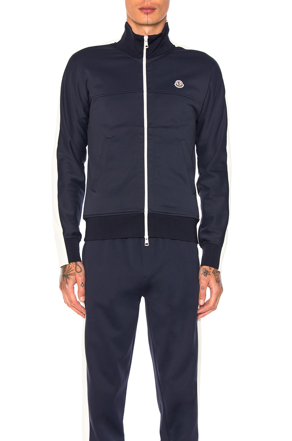 Moncler Zip Jacket in Blue,White