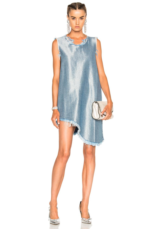 Marques ' Almeida Sleeveless Asymmetric Dress in Blue