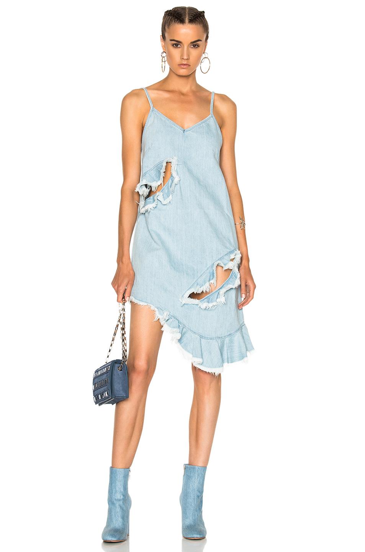 Marques ' Almeida Thin Strap Dress in Blue