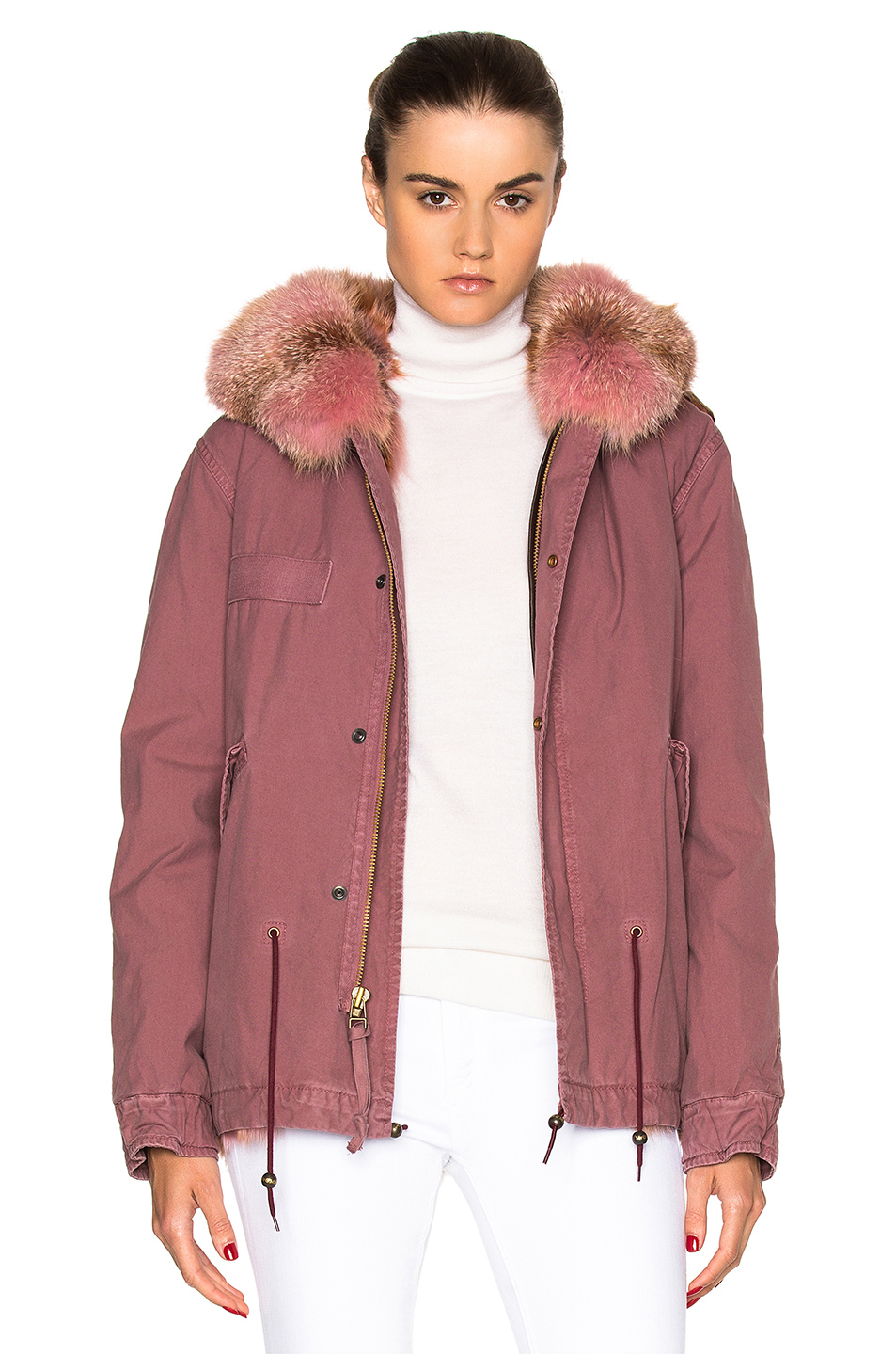 Mr & Mrs Italy Mini Parka Jacket in Pink